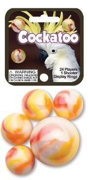 "Picture of Cockatoo Marbles Game Net (Canicas) 6.25""h x 2.75""w x 1.5""d - Item No. marbles-77349"