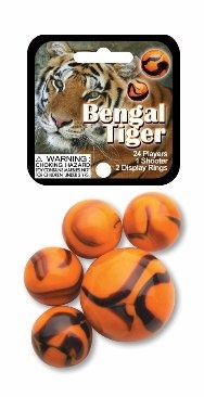 Picture of Bengal Tiger Marbles Game Net (Canicas) 6.25&quot;h x 2.75&quot;w x 1.5&quot;d&nbsp;- Item No.&nbsp;marbles-77351