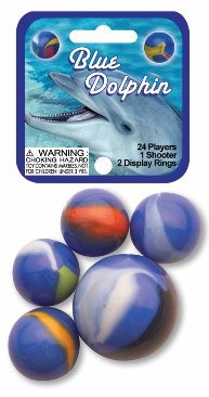Picture of Blue Dolphin Marbles Game Net (Canicas) 6.25&quot;h x 2.75&quot;w x 1.5&quot;d&nbsp;- Item No.&nbsp;marbles-77587