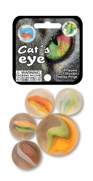 "Picture of Cat's Eye Marbles Game Net (Canicas) 6.25""h x 2.75""w x 1.5""d - Item No. marbles-77658"