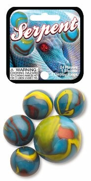 Picture of Serpent Marbles Game Net (Canicas) 6.25&quot;h x 2.75&quot;w x 1.5&quot;d&nbsp;- Item No.&nbsp;marbles-77672