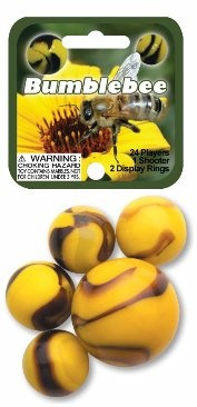 "Picture of Bumblebee Marbles Game Net (Canicas) 6.25""h x 2.75""w x 1.5""d - Item No. marbles-77689"