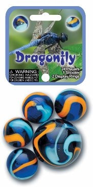 "Picture of Dragonfly Marbles Game Net (Canicas) 6.25""h x 2.75""w x 1.5""d - Item No. marbles-77719"