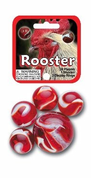 "Picture of Rooster Marbles Game Net (Canicas) 6.25""h x 2.75""w x 1.5""d - Item No. marbles-77721"