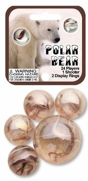 "Picture of Polar Bear Marbles Game Net (Canicas) 6.25""h x 2.75""w x 1.5""d - Item No. marbles-77734"