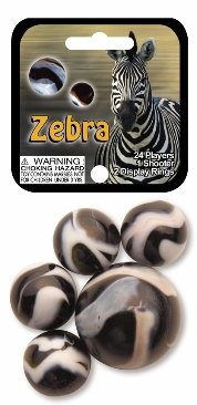Picture of Zebra Marbles Game Net (Canicas) 6.25&quot;h x 2.75&quot;w x 1.5&quot;d&nbsp;- Item No.&nbsp;marbles-77737