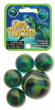Picture of Sea Turtle Marbles Game Net (Canicas) 6.25&quot;h x 2.75&quot;w x 1.5&quot;d&nbsp;- Item No.&nbsp;marbles-77744