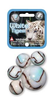 Picture of White Tiger Marbles Game Net (Canicas) 6.25&quot;h x 2.75&quot;w x 1.5&quot;d&nbsp;- Item No.&nbsp;marbles-77774