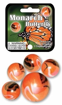 Picture of Monarch Butterfly Marbles Game Net (Canicas) 6.25&quot;h x 2.75&quot;w x 1.5&quot;d&nbsp;- Item No.&nbsp;marbles-77779