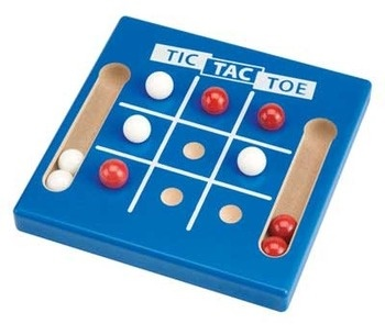 Picture of Tic Tac Toe Marble Game 5.5&quot;h x 5.5&quot;w x .75&quot;d&nbsp;- Item No.&nbsp;marbles-93635