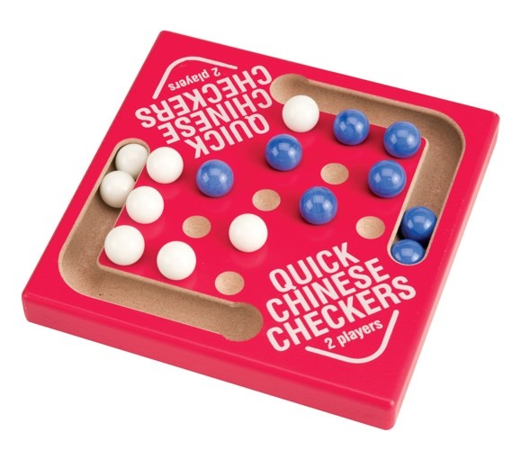 Picture of Quick Chinese Checkers Marble Game 5.5&quot;h x 5.5&quot;w x .75&quot;d&nbsp;- Item No.&nbsp;marbles-93637