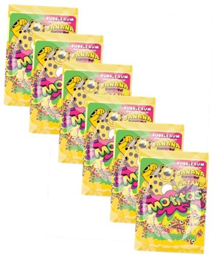 Picture of Motitas Banana Gum Chicles - Item No. motitas-banana-6pk