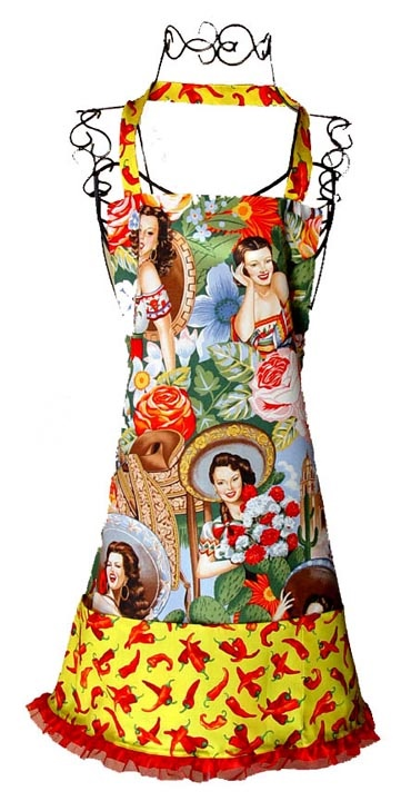 Picture of Hot Calendar Girls Apron - Item No. mp-calendargirls