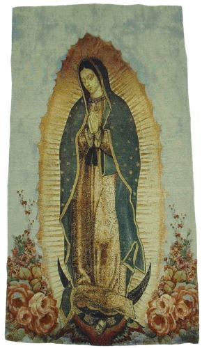 Picture of Our Lady of Guadalupe Woven Banner  - Item No. nc101