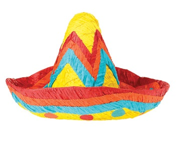 Picture of Sombrero Pinata&nbsp;- Item No.&nbsp;pinata-12446