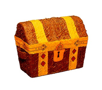 Picture of Treasure Chest / Cofre Pirata Pinata - Item No. pinata-18650