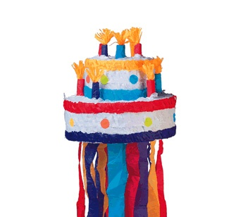 Picture of Birthday Cake Pinata&nbsp;- Item No.&nbsp;pinata-19650