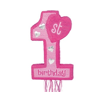 Picture of 1st B-Day Pink Pinata - Item No. pinata-33452