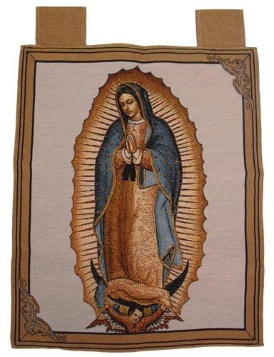 Picture of Our Lady of Guadalupe Woven Banner with Hanging Loops - Item No. ps177