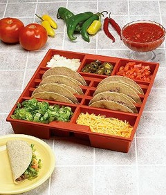 Picture of Taco Tray - Holds 6 Tacos and Favorite Toppings - Item No. taco-tray